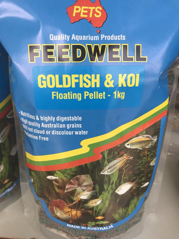 FEEDWELL G/FISH & KOI PELLETS MIN 1KG