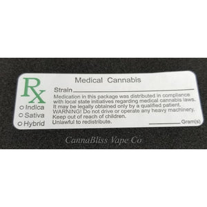 General Medicinal Cannabis Labels