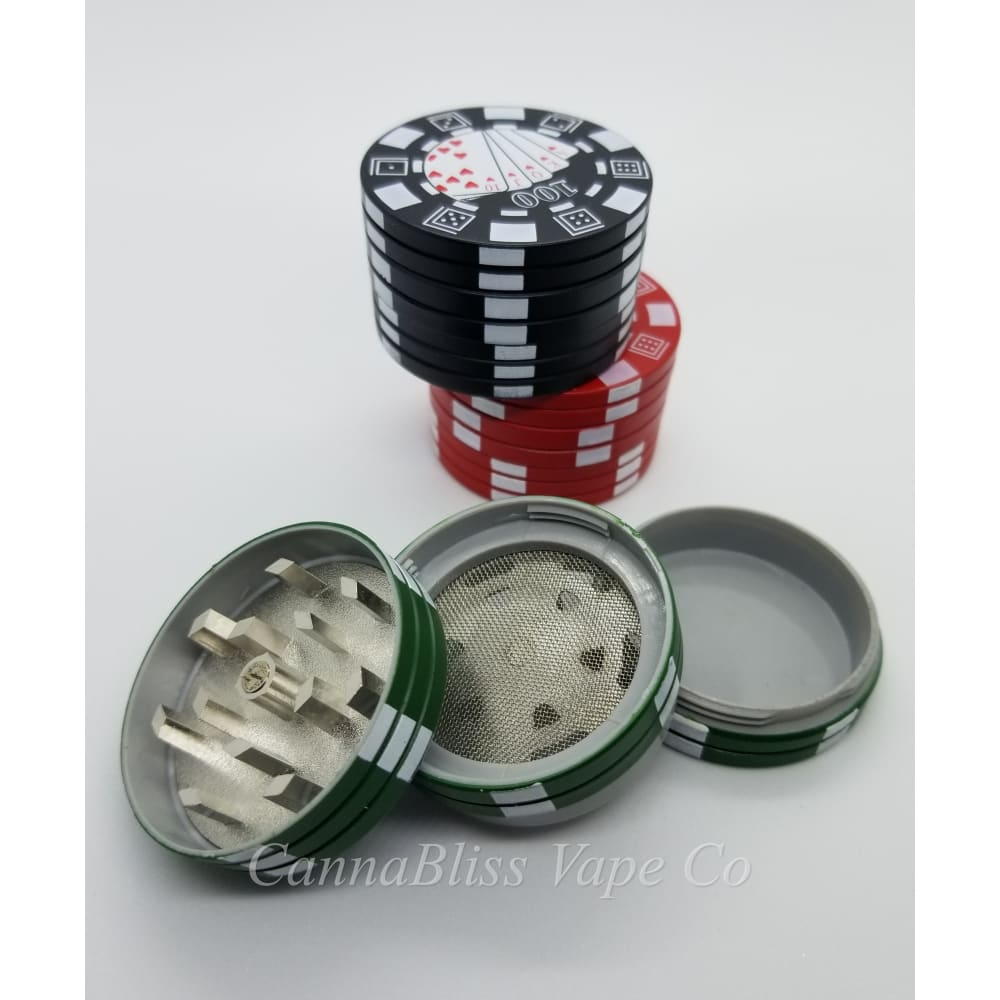 Poker Face Metal Grinder - CannaBliss Vape Co.