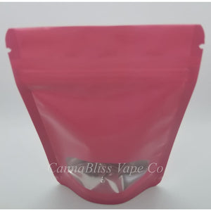 Small Pink Mylar Bag - CannaBliss Vape Co.