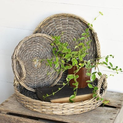 Set of 3 Willow Trays