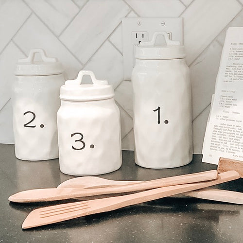 1. 2. 3. Ceramic Canister Set