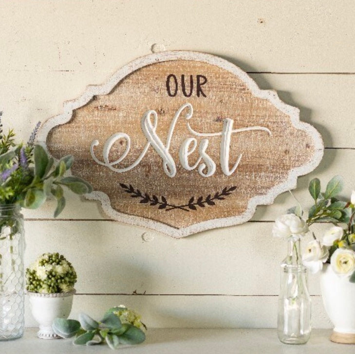 LARGE - Our Nest Wood Sign