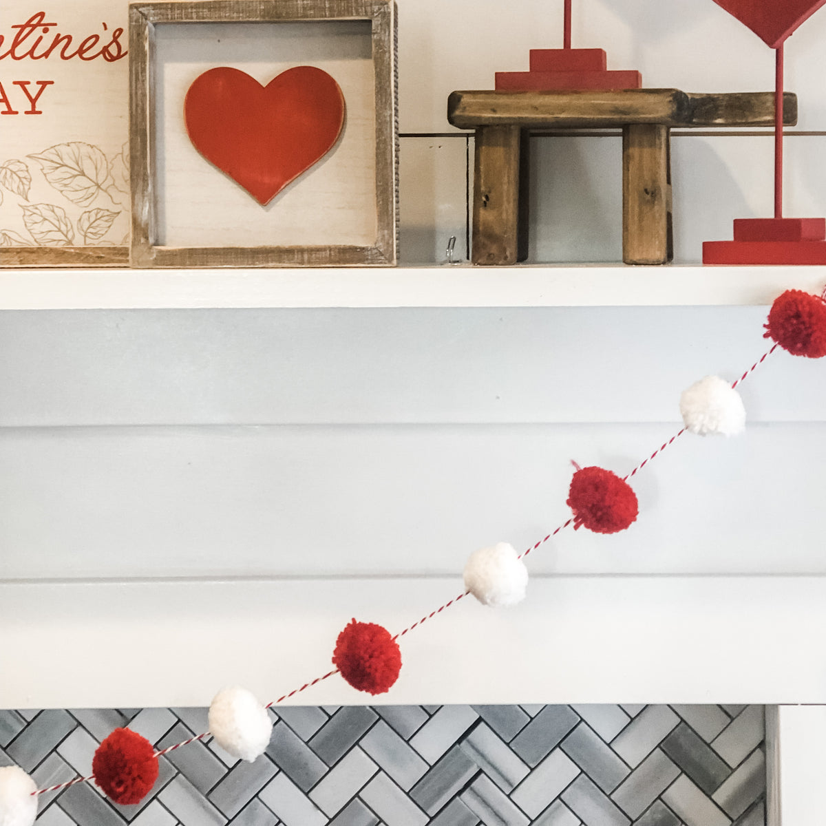 Red and White Garland