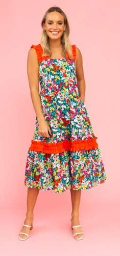 CROSBY BOWIE DRESS-BEGONIA