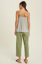Load image into Gallery viewer, WISHLIST SMOCKED CAMI-GREY