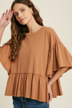 Load image into Gallery viewer, WISHLIST BELL SLEEVE TOP-CHAI
