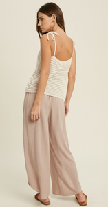 TIE SHOULDER KNIT TANK-CREAM