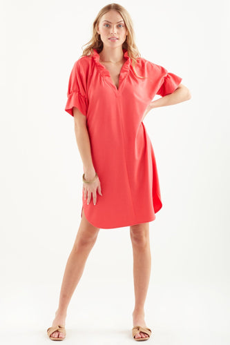 FINLEY CROSBY DRESS-CORAL