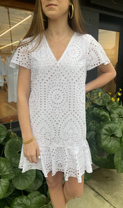 ANNA CATE VERONIA DRESS-WHITE EYELET