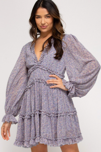SHE + SKY TIERED DRESS WITH RUFFLE