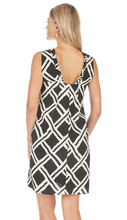Load image into Gallery viewer, JADE RUFFLE SQUARE BK DRESS