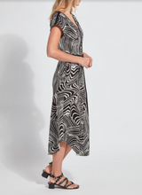 Load image into Gallery viewer, LYSSE ROSELYN DRESS-BLACK ZEBRA