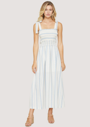 LOST + WANDER BEACHSIDE PIER MAXI-BLUE/WHITE