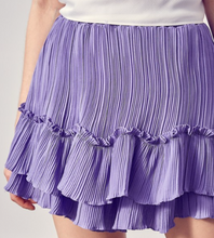 Load image into Gallery viewer, DO + BE PLEATED RUFFLE SKIRT-VIOLA
