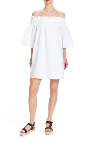 MARY OFF THE SHOULDER DRESS-WHITE