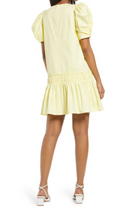 Load image into Gallery viewer, ENGLISH FACTORY RUFFLE DRESS-YELLOW