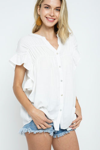 COZY CASUAL TOP-OFF WHITE