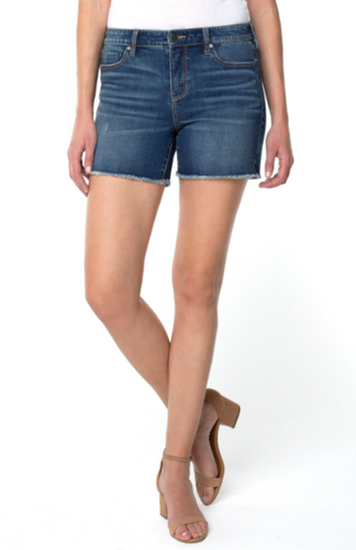 LIVERPOOL VICKIE SHORT-JACKSON DENIM