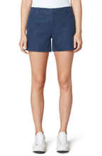 Load image into Gallery viewer, LIVERPOOL WELT TROUSER SHORTS-INDIGO DOT