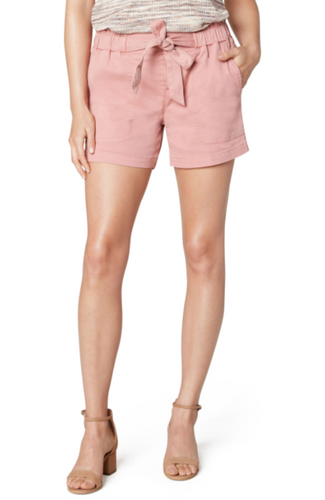 LIVERPOOL TIE FRONT SHORTS-BLUSH