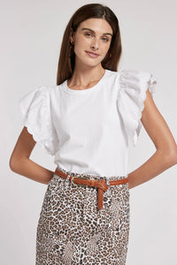 TYLER BOE JULIETTE TOP-WHITE