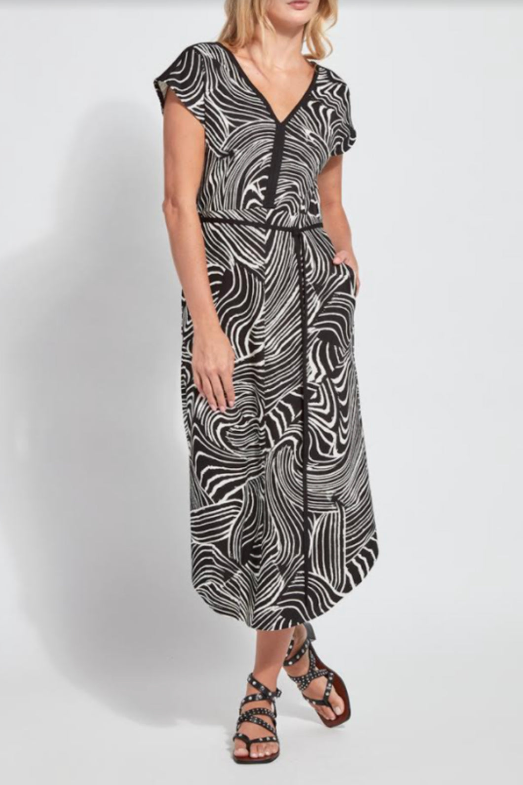 LYSSE ROSELYN DRESS-BLACK ZEBRA
