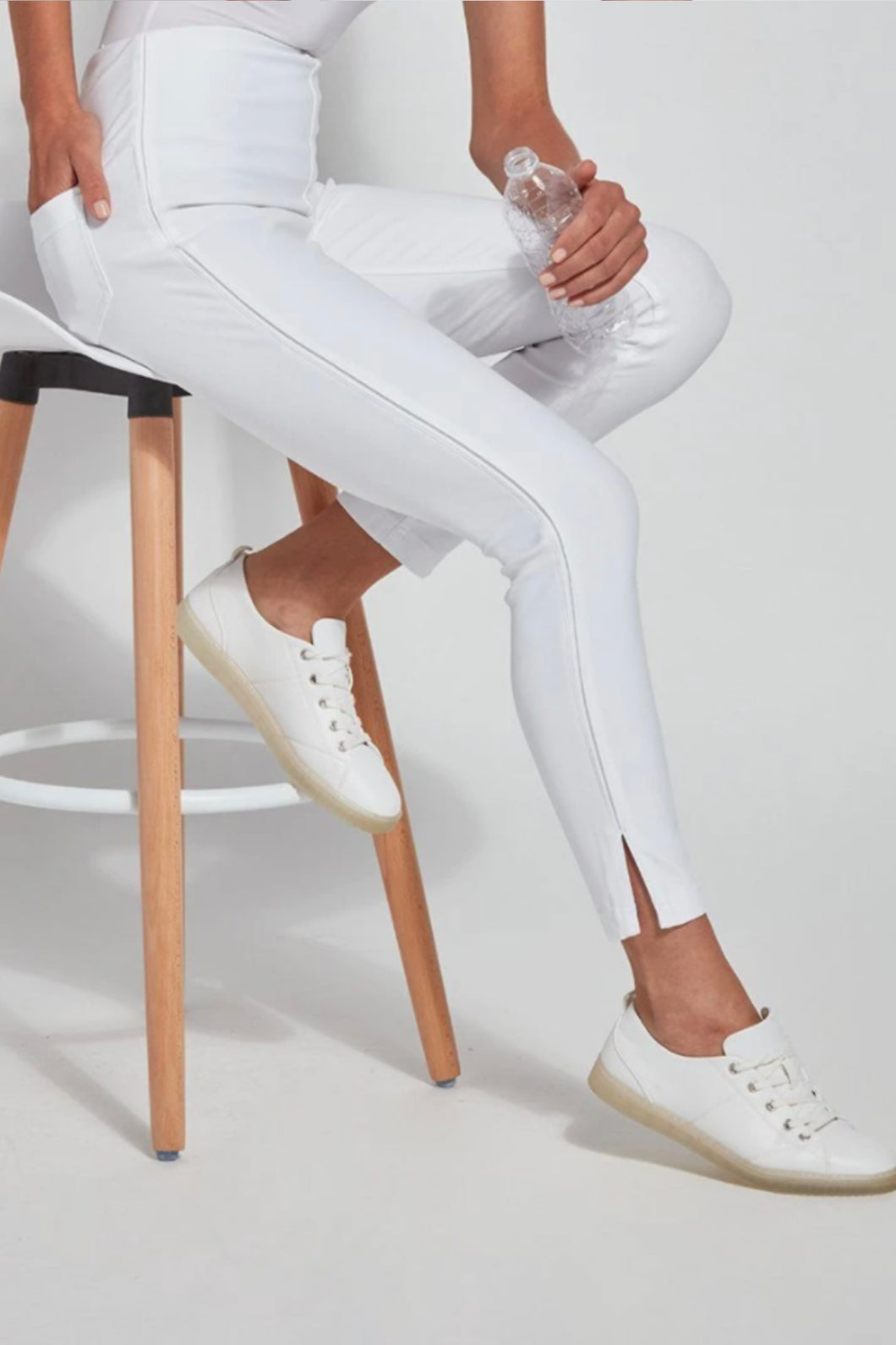 LYSSE PARK LEGGINGS-WHITE