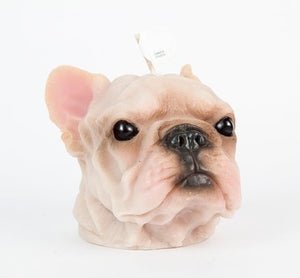 French Bulldog Candle Handmade