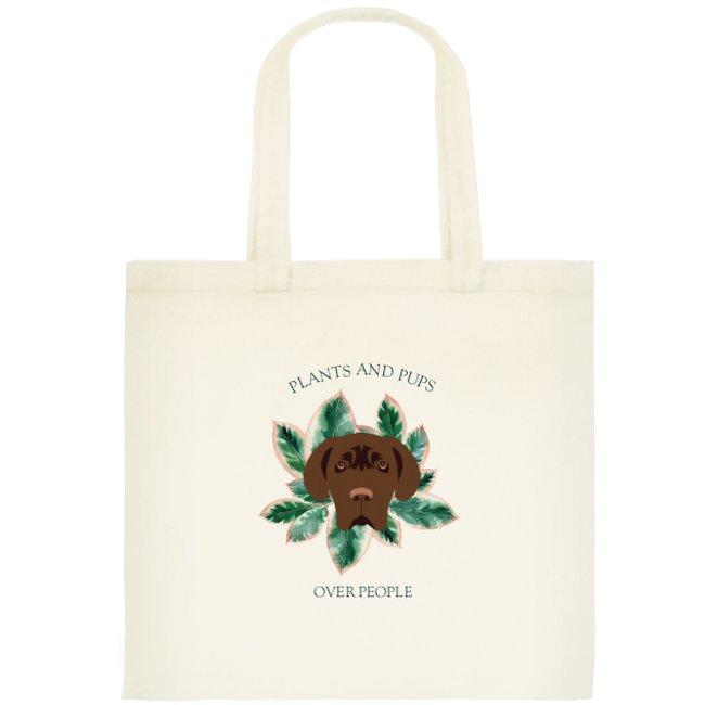 Plants and Pups Tote Bag