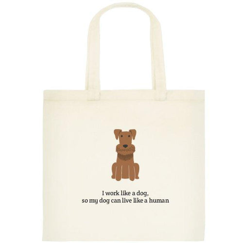 HUMAN DOG TOTE BAG
