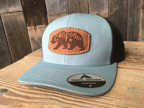 California Leather Patch Hat