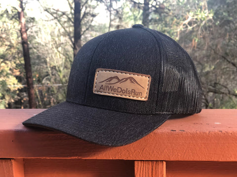 All We Do Is Run Leather Patch Hat