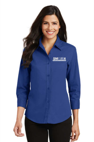 SMEEA Ladies 3/4 Sleeve Easy Care Shirt