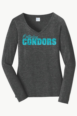 Ontiveros Ladies Long Sleeve V-Neck Tee
