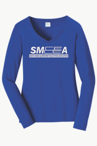 SMEEA Women's Long Sleeve Tee GLITTER logo