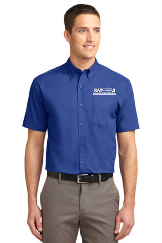 SMEEA Men's Short Sleeve Easy Care Shirt