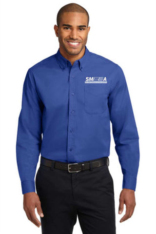 SMEEA Men's Long Sleeve Easy Care Shirt