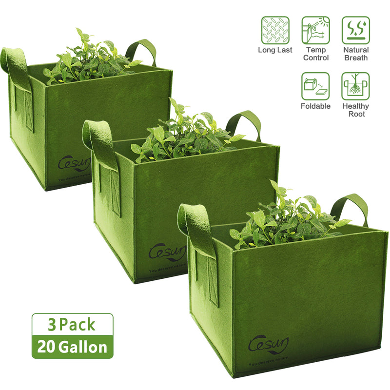 Fabric Square Vegetable Grow Bags