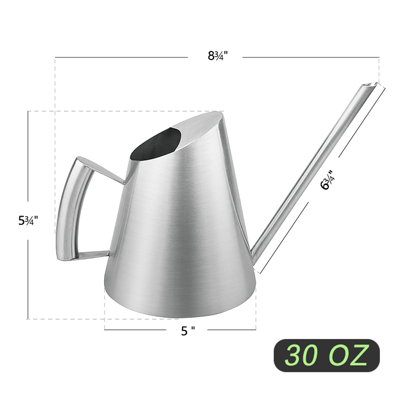30 oz stainless steel watering can size