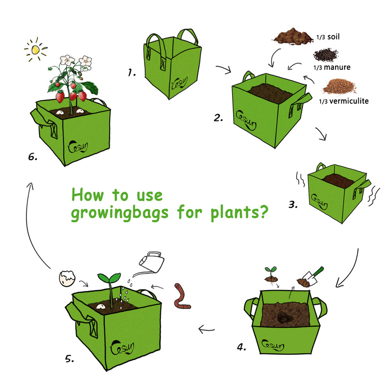 How to use grow bags