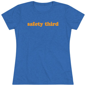 Women's Safety Third Triblend Short Sleeve Tee