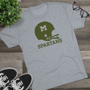 Men's Retro Spartans Tri-Blend Crew Tee