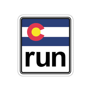The Run Colorado Kiss-Cut Stickers