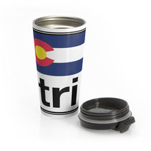 Load image into Gallery viewer, Tri Colorado Stainless Steel Travel Mug