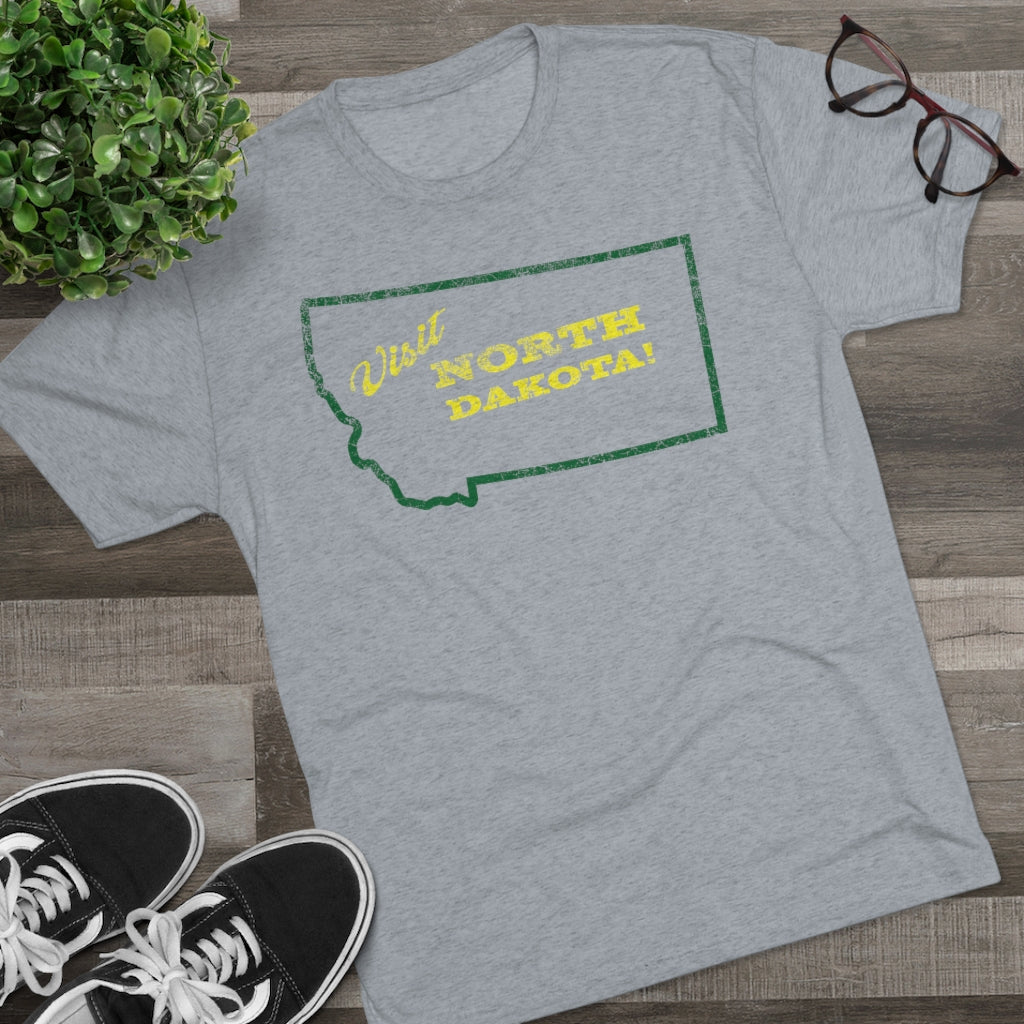 Men's Visit North Dakota! Tri-Blend Crew Tee