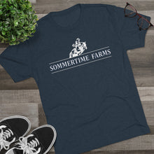 Load image into Gallery viewer, Men's Sommertime Farms Color Tri-Blend Crew Tee