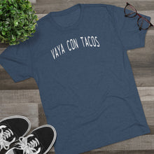 Load image into Gallery viewer, Men's Vaya Con Tacos Tri-Blend Crew Tee
