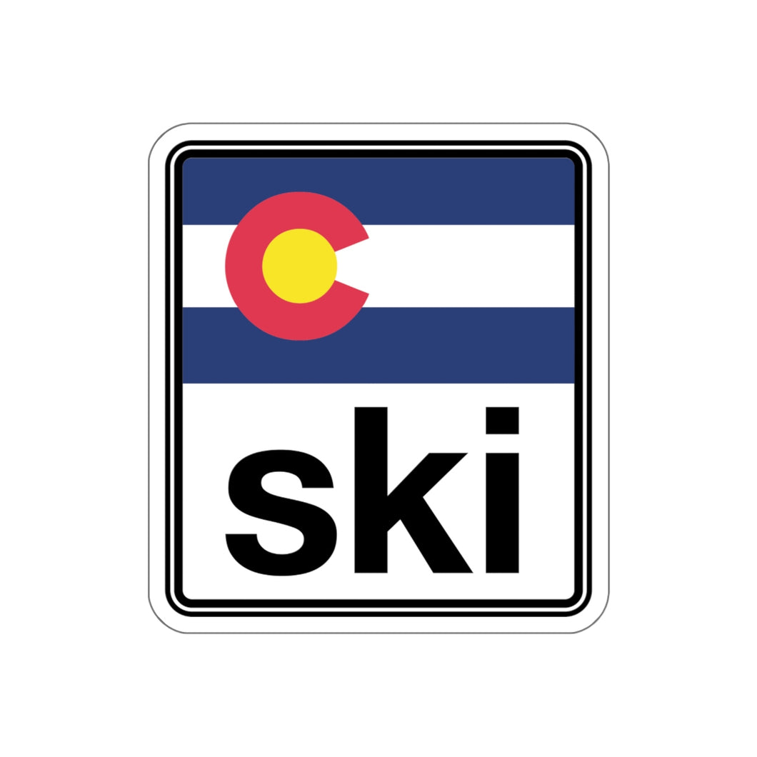 Ski Colorado Kiss-Cut Stickers