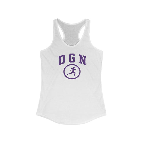 Women's DGN Running Man Ideal Racerback Tank
